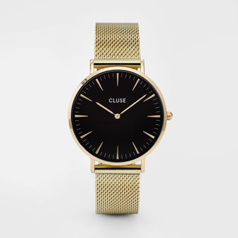 Cluse Boho Chic Mesh Gold/Black Watch