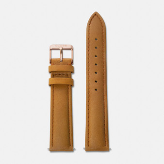 Cluse 18mm Watch Strap Caramel/Rose Gold
