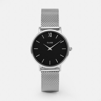 Cluse Minuit Mesh Silver/Black Watch CW0101203005