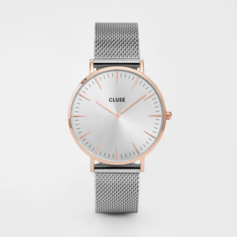 Cluse Boho Chic Mesh Rose Gold/Silver Watch CW0101201006