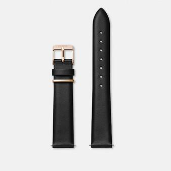 Cluse La Garconne Watch Strap Black/Rose Gold CLS603