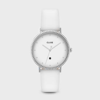 Cluse Le Couronnement Silver White / White CL63003
