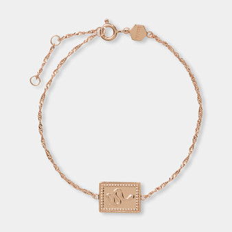 Cluse Tropicale Force Rose Gold Twisted Chain Tag Bracelet