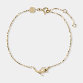 Cluse Tropicale Gold Alligator Chain Bracelet CLJ11021