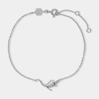 CLUSE Tropicale Silver Alligator Chain Bracelet CLJ12021