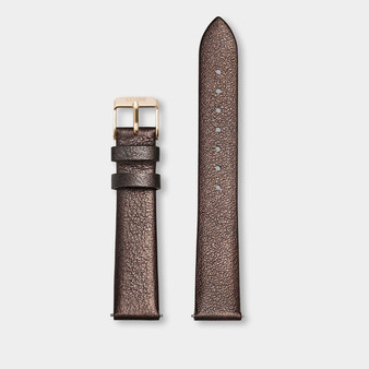 Cluse 16mm Watch Strap Chocolate Brown Metallic/Gold CS1408101051