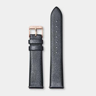 Cluse 18mm Watch Strap Dark Grey Metallic/Rose Gold CS1408101060