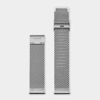Cluse 20mm Watch Strap Silver Mesh CS1401101061