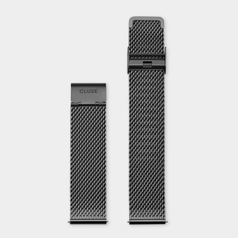 Cluse 20mm Watch Strap Black Mesh CS1401101064
