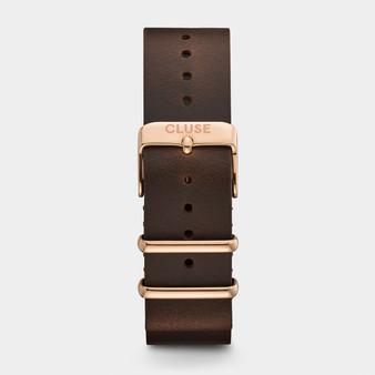 Cluse 20mm Nato Watch Strap Rose Gold/Dark Brown CS1408101070