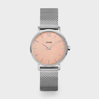 Cluse Minuit Mesh Silver Rose/Silver Watch CW0101203029