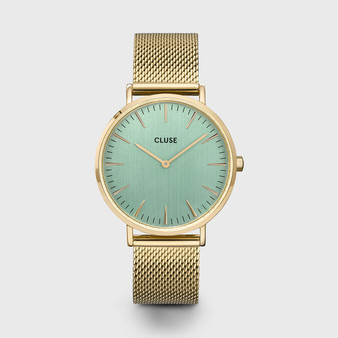 Cluse La Boheme Mesh Gold Stone Green/Gold Watch CW0101201027