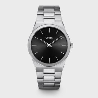 CLUSE Vigoureux Mens Silver Black/Silver Link Watch CW0101503004