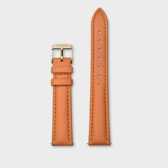 Cluse 16mm Watch Strap Sunset Orange/Gold CS1408101083