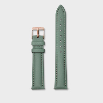 Cluse 16mm Watch Strap Stone Green/Rose Gold CS1408101084