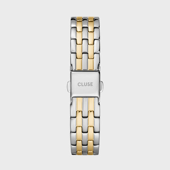 Cluse 16mm Watch Strap Gold Silver Link CS1401101077