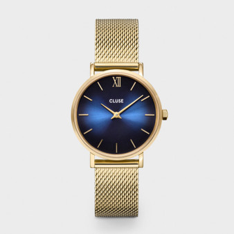 Cluse Minuit Gold Midnight Deep Blue/Gold Mesh CW10202