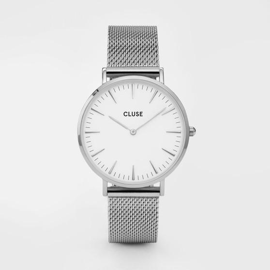Cluse Boho Chic Mesh Silver/White Watch CW0101201002