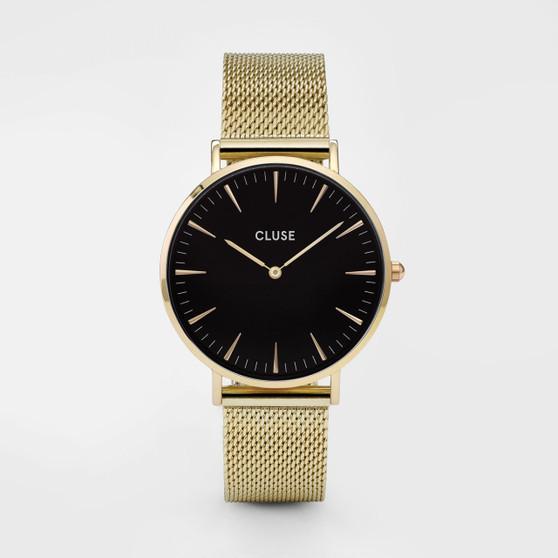 Cluse Boho Chic Mesh Gold/Black Watch