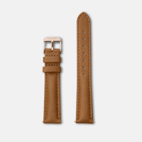 Cluse Minuit Watch Strap Caramel/Rose Gold