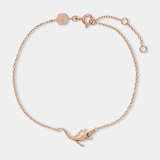 Cluse Tropicale Rose Gold Alligator Chain Bracelet CLJ10021