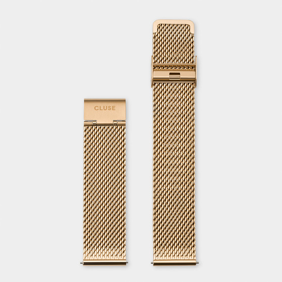 Cluse 20mm Watch Strap Gold Mesh CS1401101062