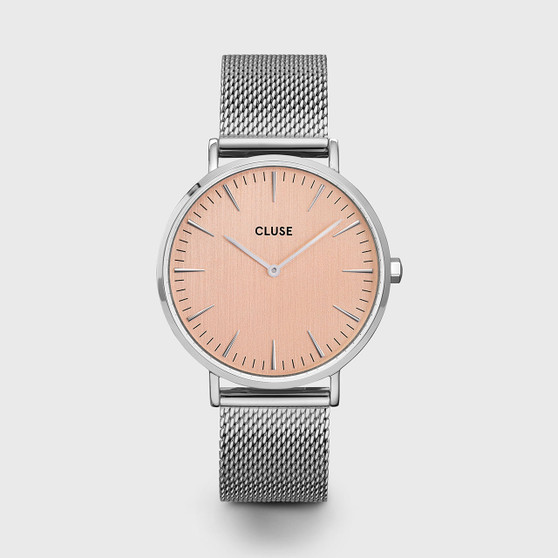 Cluse Boho Chic Mesh Silver Rose/Silver Watch CW0101201026