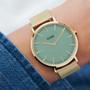 Cluse La Boheme Mesh Gold Stone Green/Gold Watch CW0101201027