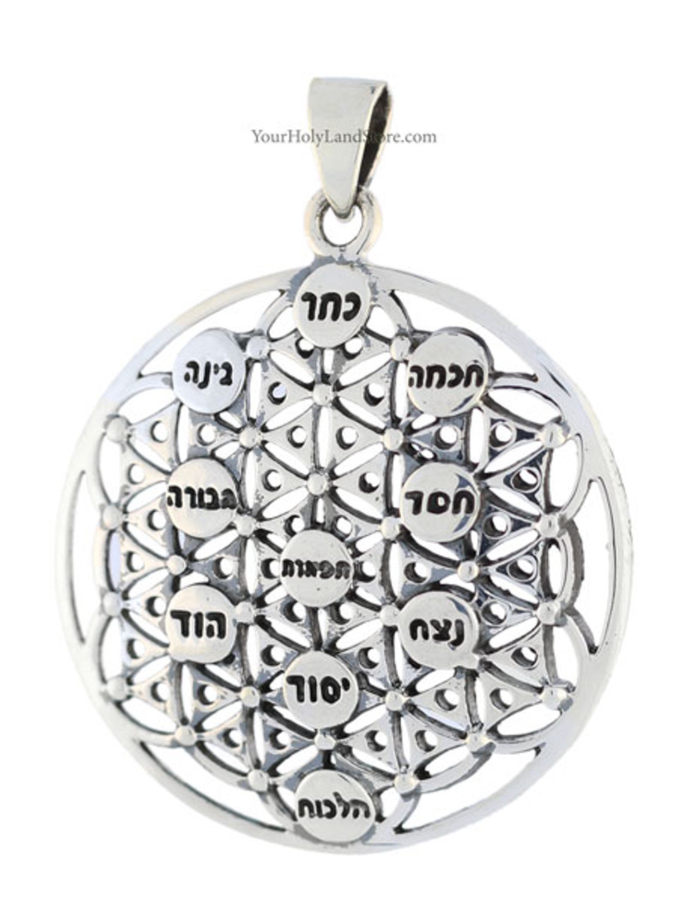 Kabbalah Flower Of Life Tree Of Life Pendant The structure of the tree of life is connected to the sacred teachings of the jewish kabbalah but can be seen 3,000 years earlier in egypt. kabbalah flower of life tree of life pendant