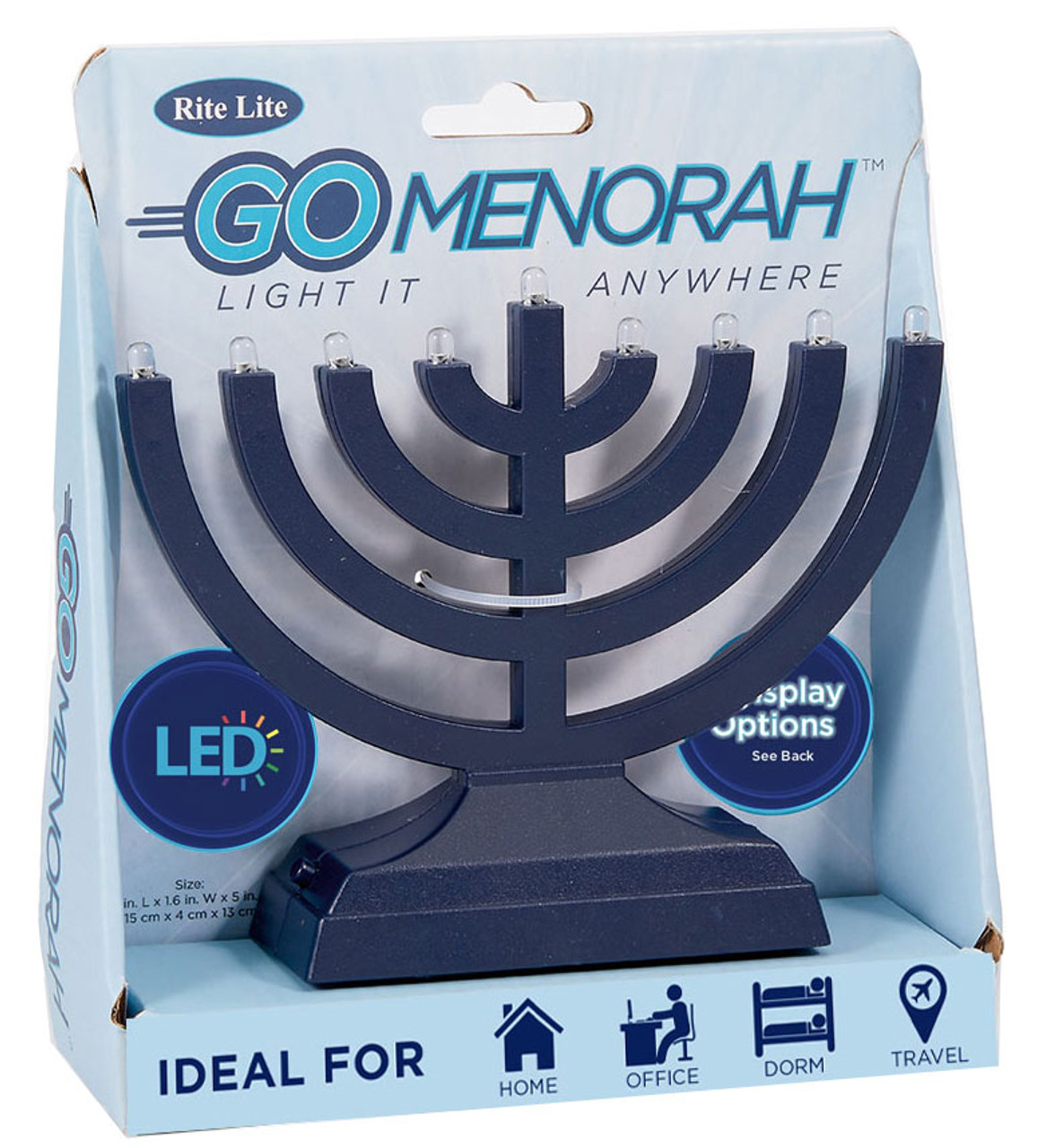 Hanukkah Travel Electric Menorah Yourholylandstore