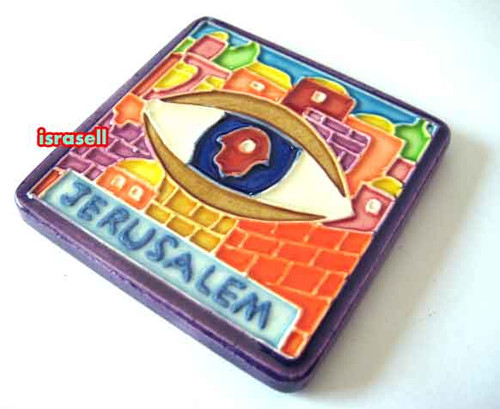 Evil Eye Ceramic Magnet