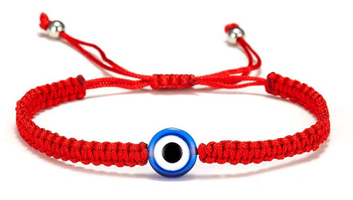 Details about  /Evil Eye Red Faith Rope String Protection Bracelet Adjustable Kabbalah