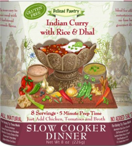 INDIAN CURRY W/RICE & DHAL GLUTEN FREE