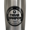 'TRIVIA CHAMPION!' Glacier 17 oz stainless steel, copper lined bottle (STEEL)