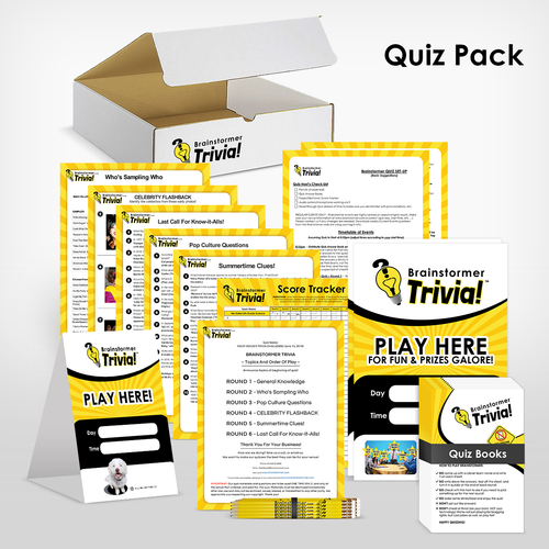 Pub Quiz STARTER KIT for NEW bar clients only - (8 quiz packs)