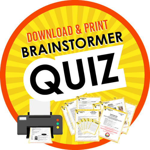 Brainstormer quiz for bars and restaurants. Available for immediate download.
