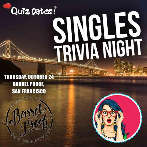 Quiz Dates! HALLOWEEN Singles Trivia Night in San Francisco!