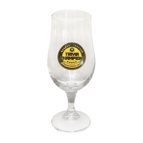 'TRIVIA CHAMPION!' Munique 13.5 oz Footed Beer Glass