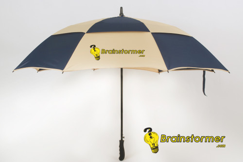 'Legend' Golf Umbrella - blue/tan