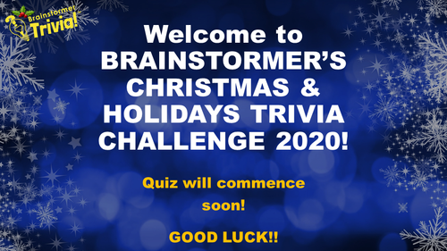 Brainstormer's Christmas & Holidays Quiz 2020 - Sample slide