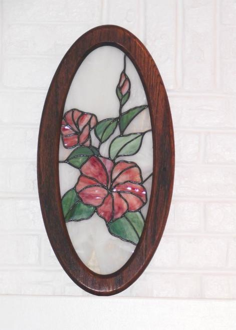 Gorgeous Hibiscus Panel Swanky Glass