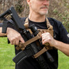 LBE Harness w/Elite Retention System - Coyote - Release Safety snap