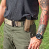 Single Pistol Mag Pouch Front Loaded - Coyote