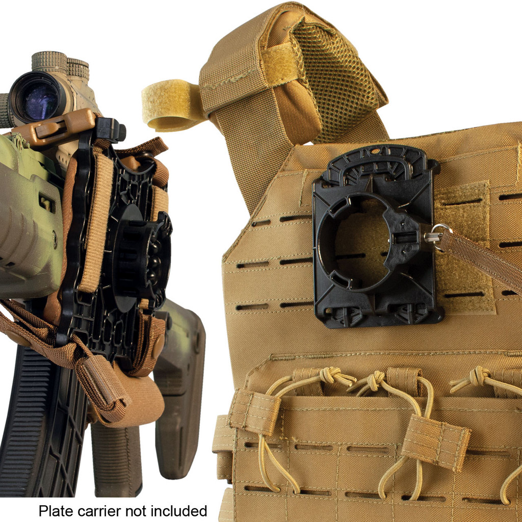 Elite Retention System - On plate carrier - Coyote