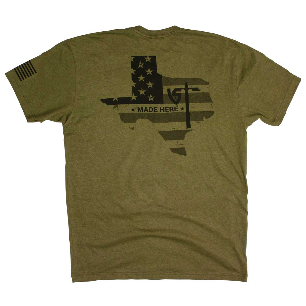 UST Made Here T-Shirt - Olive Drab - Back
