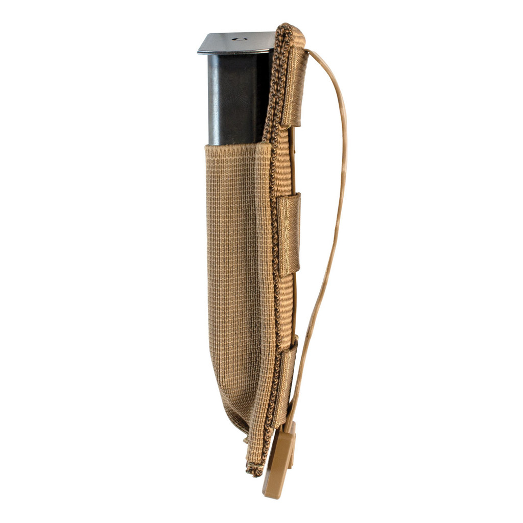 Single Pistol Mag Pouch Side Loaded - Coyote