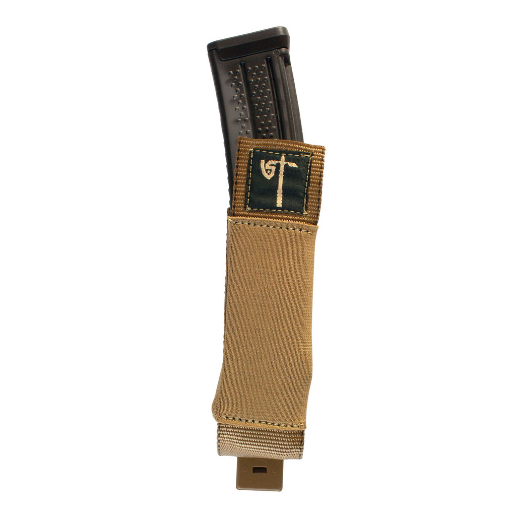 Single MP5 Mag Pouch Front Loaded - Coyote