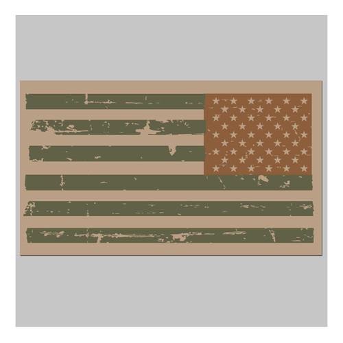 Reverse USA Combat Flag