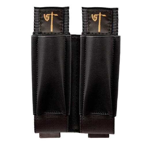 Double Rifle/Pistol Pouch Front - Black