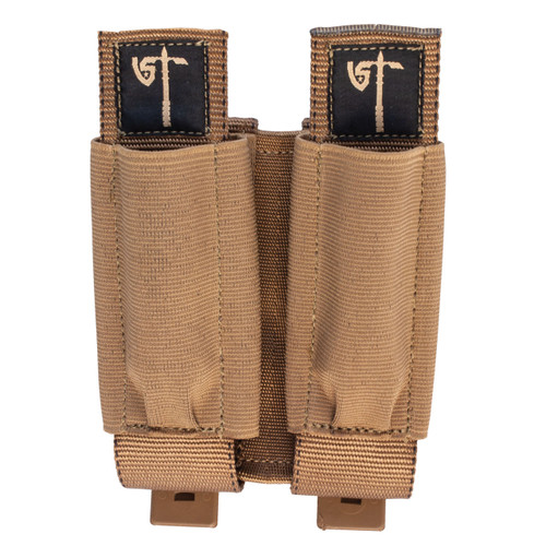 Double Rifle/Pistol Pouch Front - Coyote